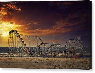 Seaside Coaster Canvas Print by Kim Zier