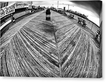 Seaside Distorted Canvas Print by John Rizzuto