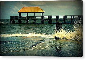 Seaside Dock Canvas Print by Ali Dover