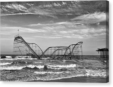 Seaside Heights - Jet Star Roller Coaster Canvas Print by Niday Picture Library