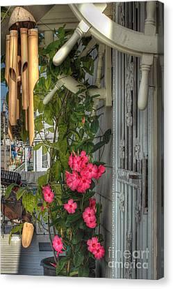 Seaside Porch Canvas Print by Joann Vitali