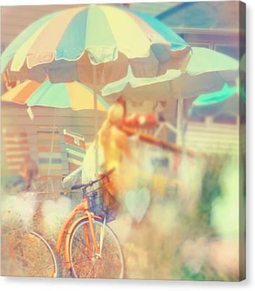 Seaside Town Canvas Print by Elle Moss