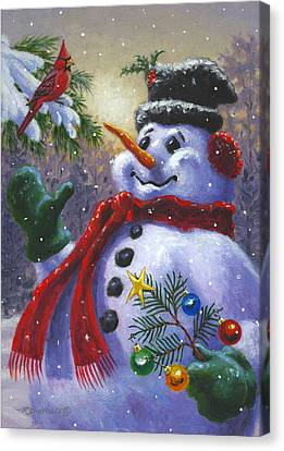 Seasons Greetings Canvas Print by Richard De Wolfe