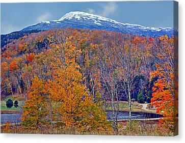 Seasons' Shift - Mount Washington - White Mountains Canvas Print by Nikolyn McDonald