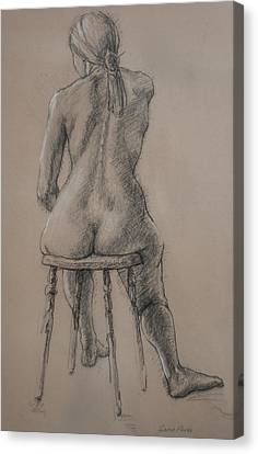 Seated Figure Canvas Print by Sarah Parks