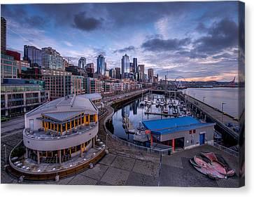 Seattle Bell Street Pier Canvas Print by Dan Mihai