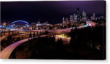 Seattle Bend Canvas Print by Chad Dutson