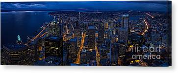 Seattle Christmas Canvas Print by Mike Reid