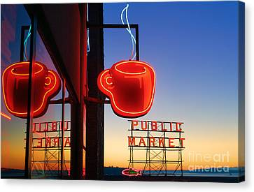 Seattle Coffee Canvas Print by Inge Johnsson