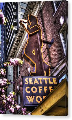 Seattle Coffee Works Canvas Print by Spencer McDonald