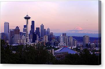 Seattle Dawning Canvas Print by Chad Dutson