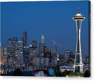 Seattle Nights Canvas Print by David Yack
