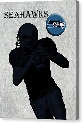 Seattle Seahawks Football Canvas Print by David Dehner
