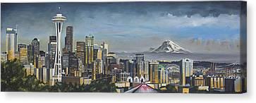 Seattle Skyline Canvas Print by Nick Buchanan
