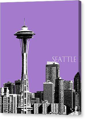 Seattle Skyline Space Needle - Violet Canvas Print by DB Artist