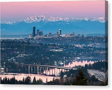 Seattle Sunrise Canvas Print by Thorsten Scheuermann