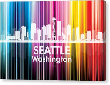 Seattle Wa 2 Canvas Print by Angelina Vick