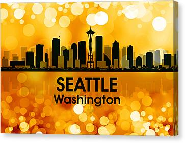 Seattle Wa 3 Canvas Print by Angelina Vick