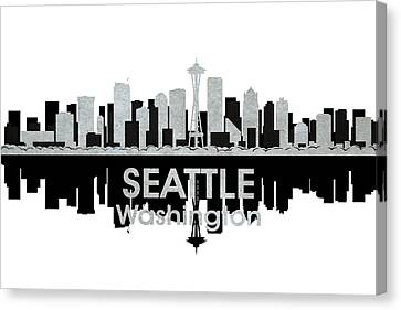 Seattle Wa 4 Canvas Print by Angelina Vick