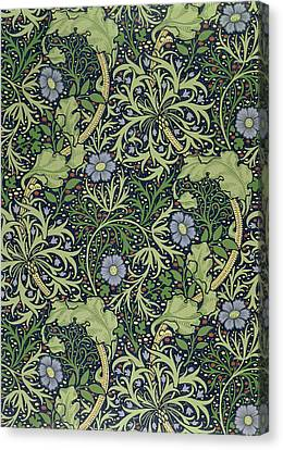 Seaweed Wallpaper Design Canvas Print by William Morris