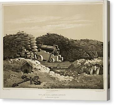 Sebastopol Front Line Trenches Canvas Print by British Library