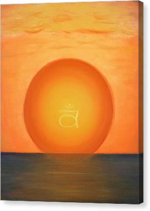 Second Chakra Canvas Print by Eileen Lighthawk