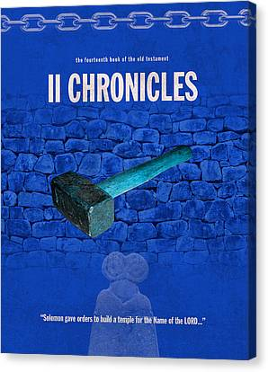Second Chronicles Books Of The Bible Series Old Testament Minimal Poster Art Number 14 Canvas Print by Design Turnpike