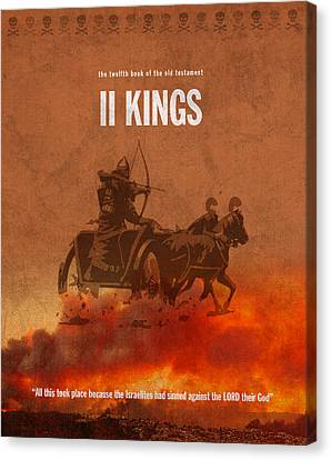 Second Kings Books Of The Bible Series Old Testament Minimal Poster Art Number 12 Canvas Print by Design Turnpike