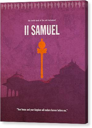 Second Samuel Books Of The Bible Series Old Testament Minimal Poster Art Number 10 Canvas Print by Design Turnpike