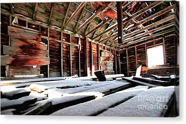 Second Story Homestead Harney Oregon Canvas Print by Michele AnneLouise Cohen