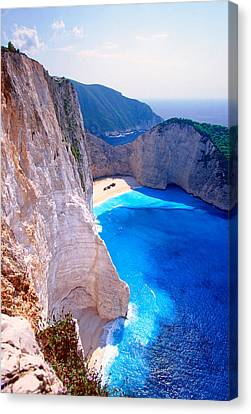 Secret Beach Canvas Print by Aiolos Greek Collections