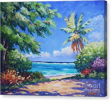 Secret Beach  Canvas Print by John Clark