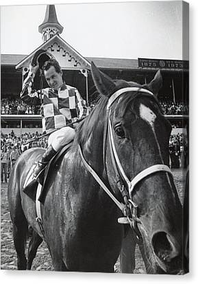 Secretariat Vintage Horse Racing #04 Canvas Print by Retro Images Archive