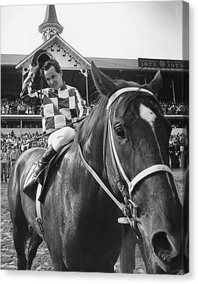 Secretariat Vintage Horse Racing #04 Canvas Print by Retro Images Archive