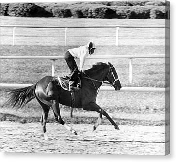 Secretariat Vintage Horse Racing #13 Canvas Print by Retro Images Archive