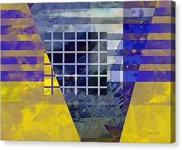 Secrets - Abstract Art Canvas Print by Ann Powell
