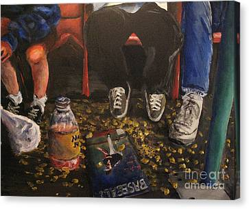 Section 204  Row C  Seats 3 Through 5 Canvas Print by Rob Monte