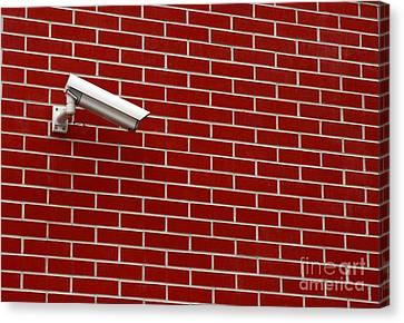 Security Camera Canvas Print by Peter Gudella