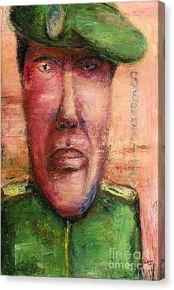Security Guard - 2012 Canvas Print by Nalidsa Sukprasert