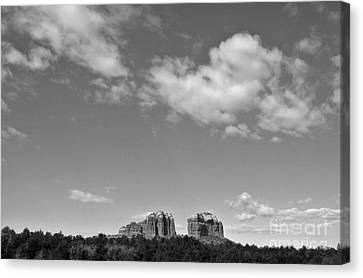 Sedona Arizona Big Sky In Black And White Canvas Print by Gregory Dyer