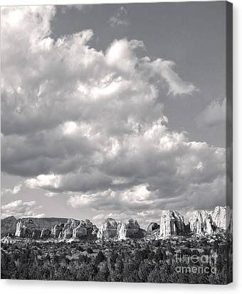 Sedona Arizona Mountains In Black And White Canvas Print by Gregory Dyer