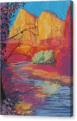 Sedona Sunrise Canvas Print by Jann Elwood