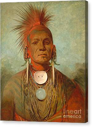 See Non Ty A An Iowa Medicine Man Canvas Print by George Catlin