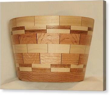 Segmented Bowl Turning-1 Canvas Print by Russell Ellingsworth