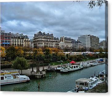 Seine Canvas Print by Paris  France