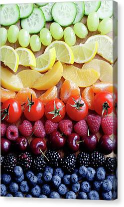 Selection Of Fruit Canvas Print by Gustoimages