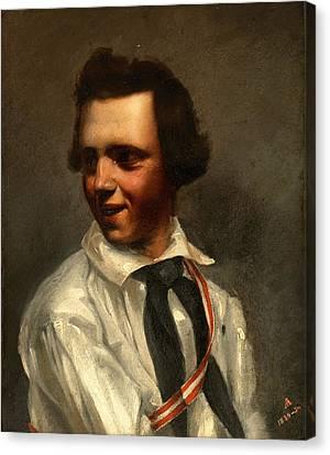Self-portrait Canvas Print by Albert Ankert