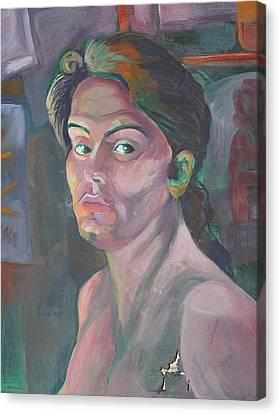 Self Portrait Canvas Print by Julie Orsini Shakher