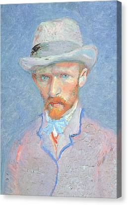Self-portrait With Gray Felt Hat Canvas Print by Vincent van Gogh