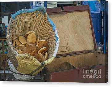 Selling Pita Bread Canvas Print by Patricia Hofmeester